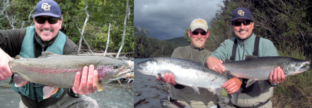 Frank with Upper Kenai Bow and Silver double with Fred