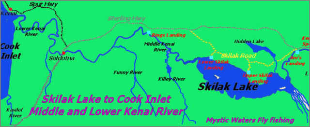 Upper and Middle Kenai River - Skilak Lake to Cook Inlet