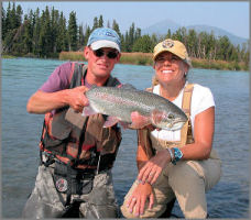 Cheryl Big Bow with another fine Kenai Rainbow
